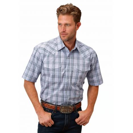Roper 1522 Coal Creek Check Short Sleeve Shirt - Mens