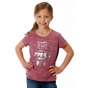 Roper 1604 Poly Cotton Knit Scoop Neck Tee - Girls