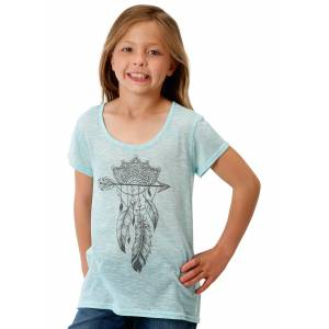 Roper 1608 Poly Knit Scoop Neck Tee - Girls