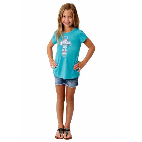 Roper 1771 Poly Rayon Knit Short Sleeve Tee - Girls