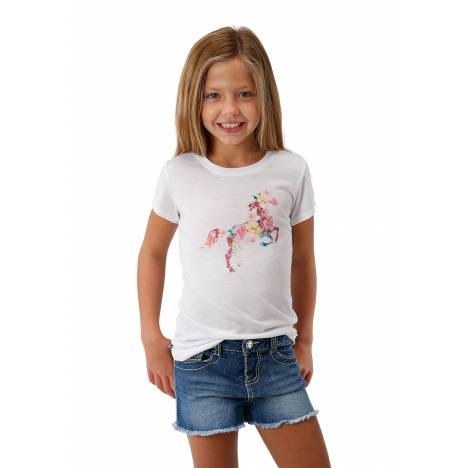 Roper 1771 Poly Rayon Short Sleeve Tee - Girls