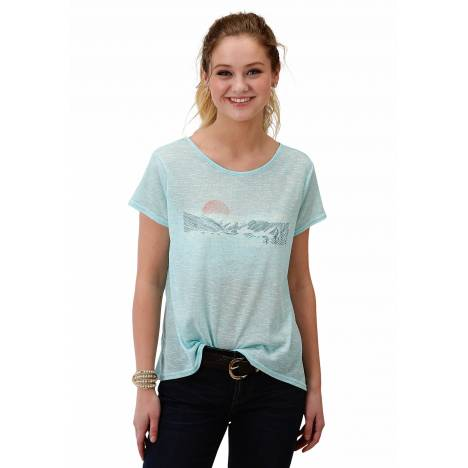 Roper 1608 Poly Cotton Knit Tee - Ladies