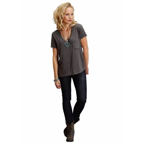 Stetson 1586 Rayon Spandex Jersey V Neck Tee - Ladies