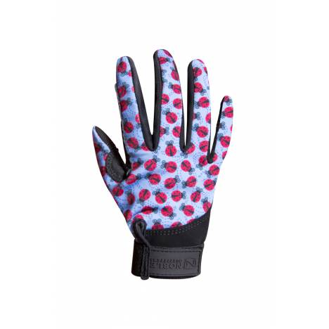 Noble Equestrian Perfect Fit Glove - Kids - Multi Running Horse