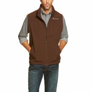 Ariat Vernon Softshell Vest - Mens - Coffee Bean