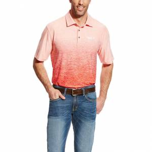 Ariat Relentless Ombre Polo - Mens - Chilli Pepper