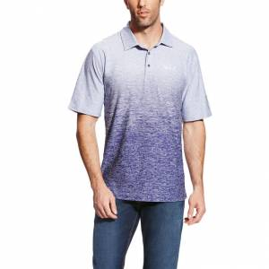 Ariat Relentless Ombre Polo - mens - Ultra Ink
