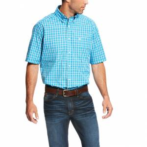 Ariat Lawson Short Sleeve Performance - Mens - Deep Aqua