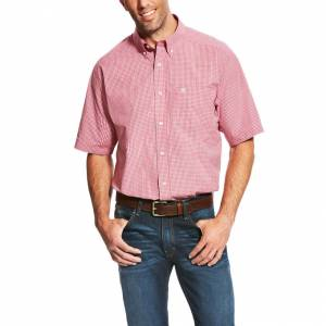 Ariat Lindale Short Sleeve Performance - Mens - Rose Red