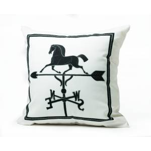 Kelley Horse Weathervane Throw Pillow