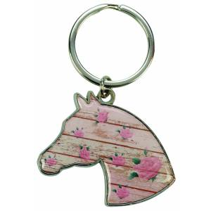 Kelley Floral Horse Head Keychain