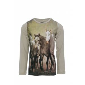 Horseware Long Sleeve Top - Kids - Horse Print