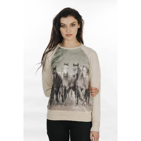 Horseware Printed Sweatshirt - Ladies
