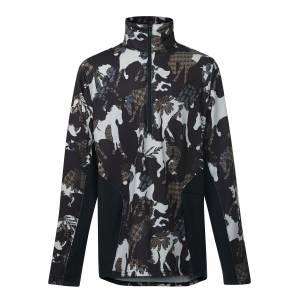 Kerrits Protek Fleece Zip Neck - Kids - Horseplay Print