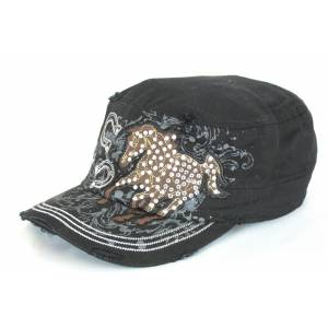 Savana Patch Army Cap - Horse & Horseshoes