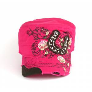 Savana Patch Army Hat - Horseshoe & Rose