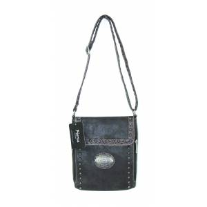 Fierce Professional Carry Crossbody Bag With  Concho And Croco Trim 1