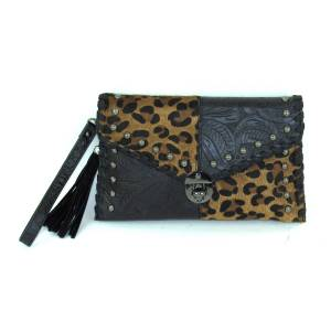 Savana Clutch Bag With Hair-On Patchwork
