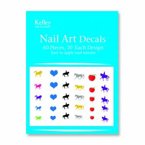 Kelley Dressage Horse Nail Art Decals
