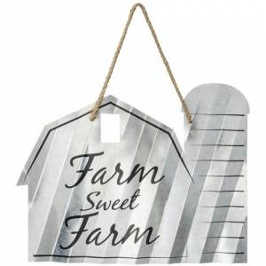 Gift Corral Barn Shaped Metal Sign
