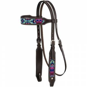 Tough-1 Beaded Sugar Skull Brow Headstall