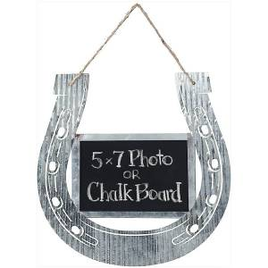 Gift Corral Corrugated Horseshoe Chalk Frame