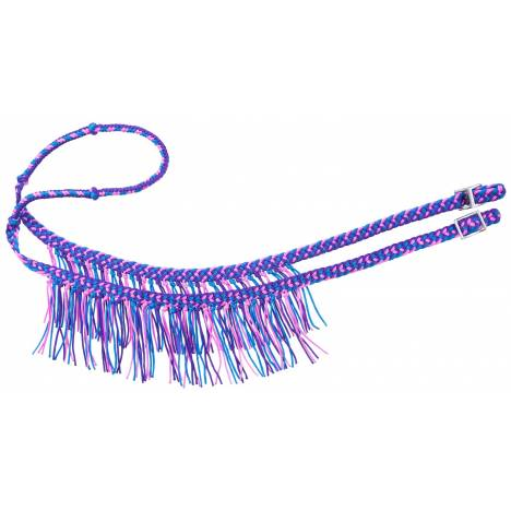 Tough-1 Mini Knot Competition Rein with Fringe