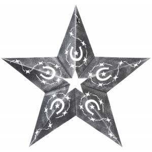 Gift Corral Star Cutout With Horseshoe Design