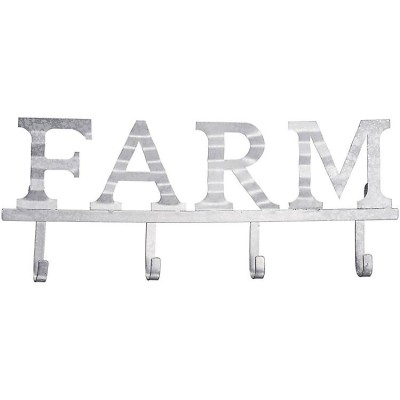 Gift Corral Corrugated Metal 4 Hook Sign