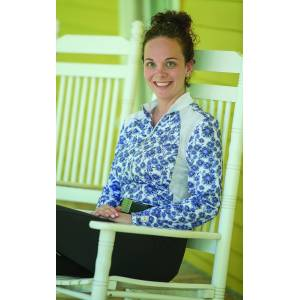 FITS Sea Breeze Long Sleeve Shirt - Ladies - Dahlia Blue