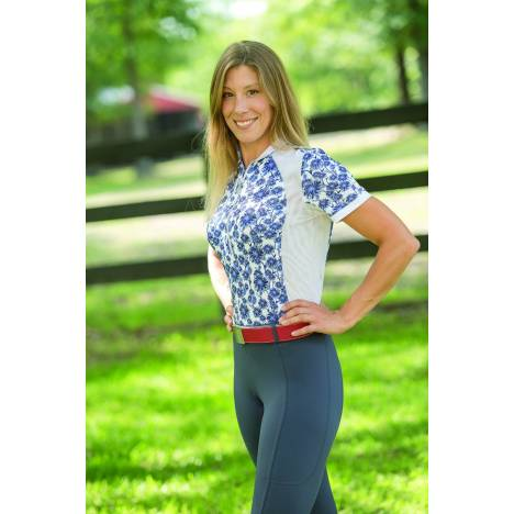 FITS Sea Breeze Short Sleeve Shirt - Ladies - Dahlia Blue