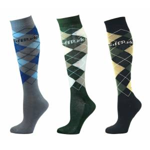 Tuffrider Argyle Knee Hi Socks - 3 Pack