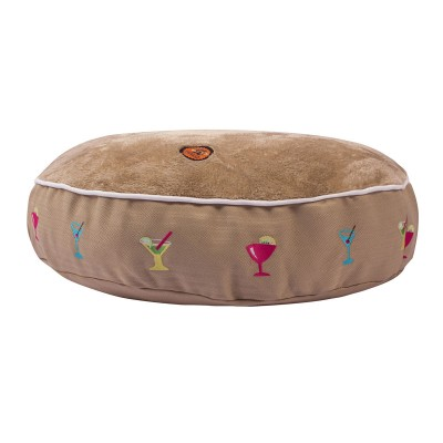 Halo Round Martinis Dog Bed