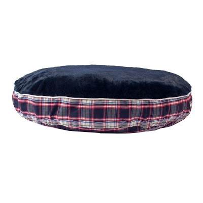 Halo Round Amber Perfect Plaid Dog Bed