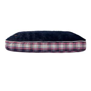 Halo Rectangular Amber Perfect Plaid Dog Bed