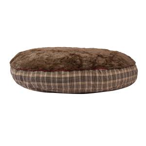 Baker Dog Bed With Baker Plaid Trim - Round