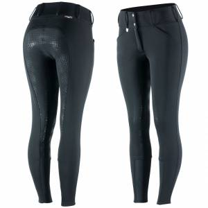 Horze Grand Prix Thermo Softshell Silicone Full Seat Breeches - Ladies