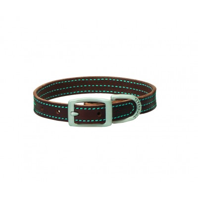 Weaver Terrain Dog Contrast Stitch Straight Collar