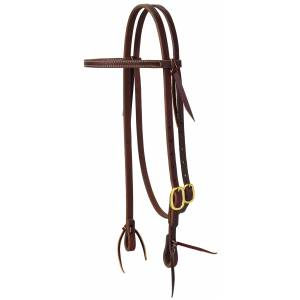 Weaver Working Tack Straight Browband Brass Buckle Headstall