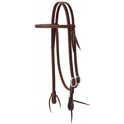 Weaver Working Tack Straight Browband Stainless Buckle Headstall