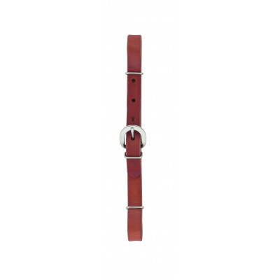 Weaver Canyon Rose Straight Leather Curb Strap