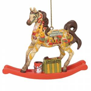The Trail Of The Painted Ponies Santa Workshop Rocking Horse Ornament