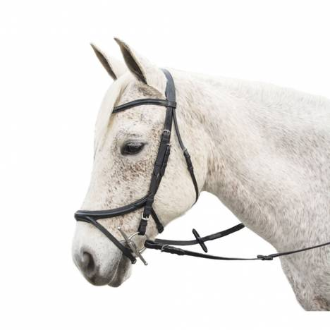 Exselle Elite Plain Raised Jumper Bridle with x Brow
