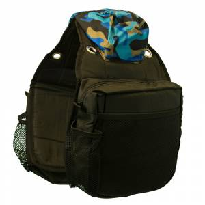 Western Saddle Bag - Blue Camo