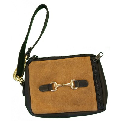 Suede and Leather Emma Purse
