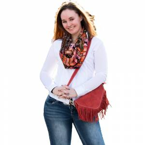 Suede Fringe Roxie Handbag Red