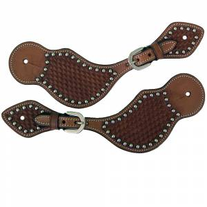Western Spur Straps with Metal Studs