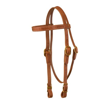 Draft Horse Harness Leather Bridle 3/4 wide