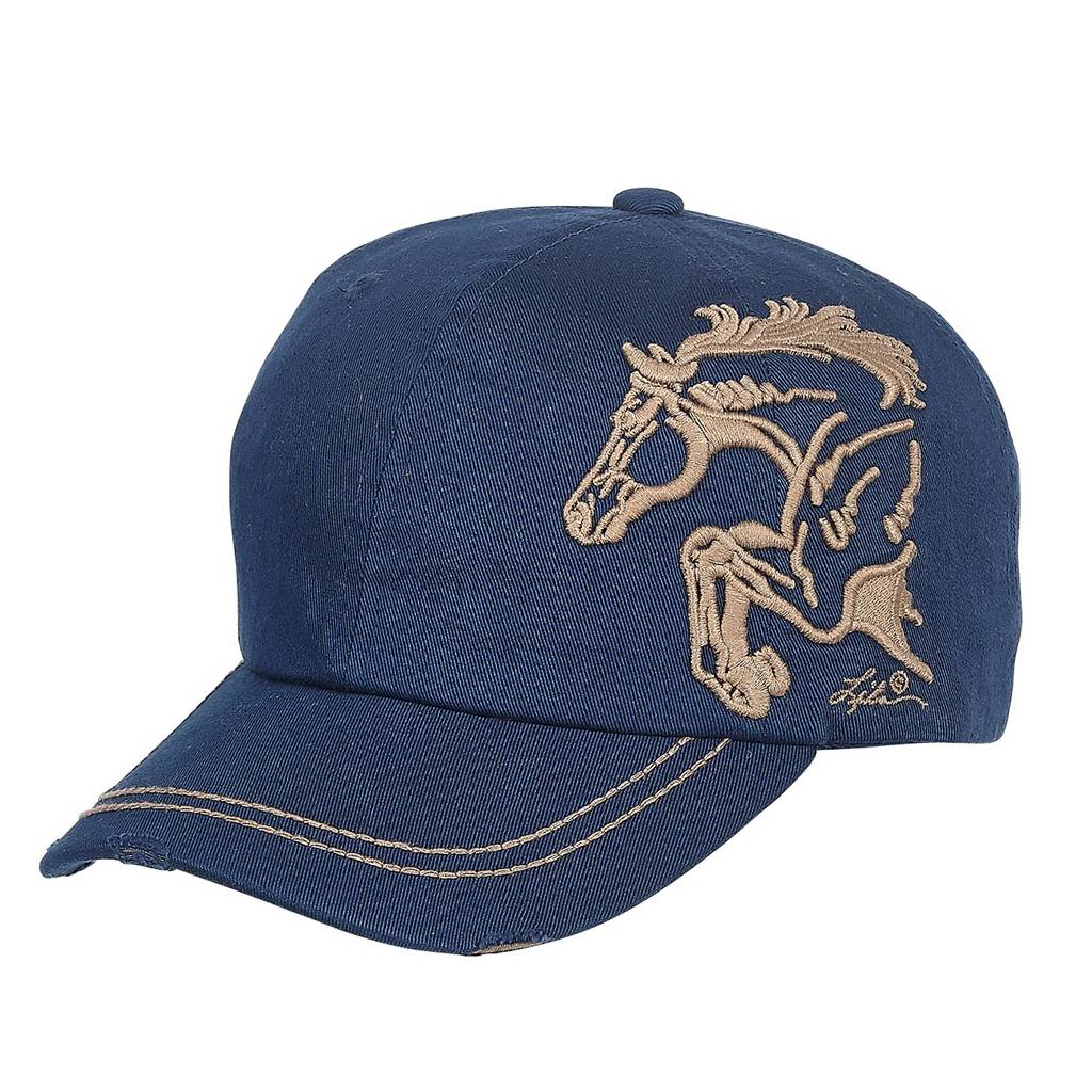 Distressed Baseball Cap with 3D Embroidered Jumper