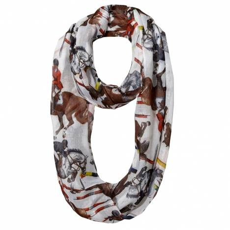 Galloping Horse Infinity Scarf Southwestern Stripe